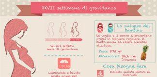 ventisettesima 27 settimana di gravidanza