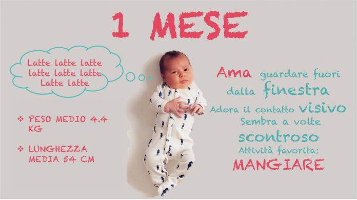 neonato 1 mese - primi mesi di vita