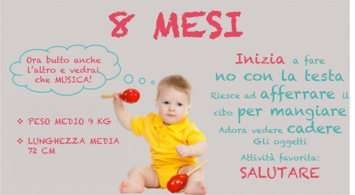 neonato 8 mesi: alimentazione, sonno, peso e progressi del bimbo